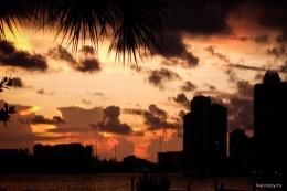 Закат в Майами