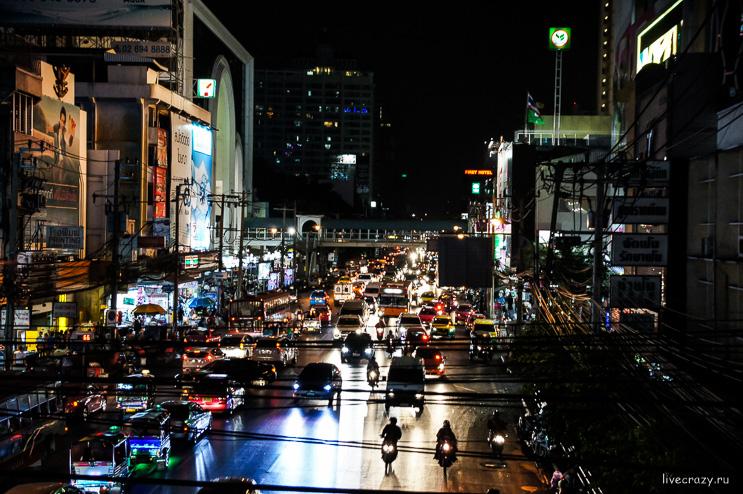 Улица ночного Бангкока
